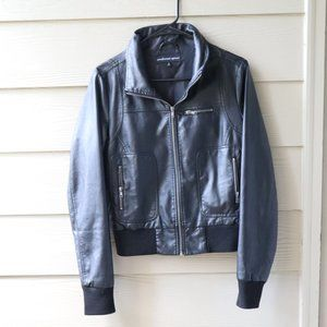 Ambiance Apparel Black Faux Leather Jacket
